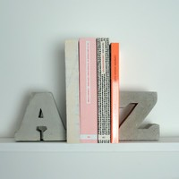 A & Z Concrete Bookends