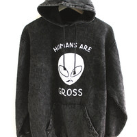 Humans Are Gross Vintage Wash Alien Hoodie