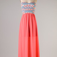 Jessie's Girl Maxi Dress - Bright Coral