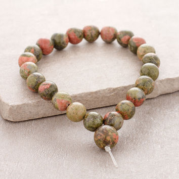 High-Energy Unakite Power Wrist Mala