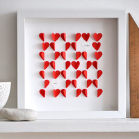 Personalized Love Hearts Red by sarahandbendrix on Etsy