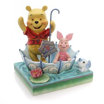 Jim Shore 50 YEARS OF FRIENDSHIP Polyresin Pooh Piglet Umbrella 4054279