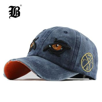 Trendy Winter Jacket [FLB] Washed Cotton Men Cap Baseball Caps Hip Hop Snapback Dad Hat for Women cap Trucker Embroidery Eagle Eye Casquette F156 AT_92_12