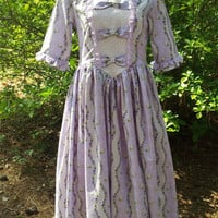 Lavender Colonial Dress for Girls, Size 12, Ready to Ship