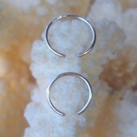 925 Sterling Silver Ear Cuff or Fake Nose Ring 2Pcs Set