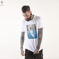 Men Short Sleeve Casual Round-neck Cotton Plus Size T-shirts [10807117059]