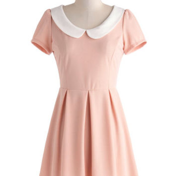 Record Time Dress in Petal Pink