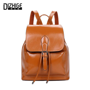 2016 New Pu Leather Women's Backpack for teenenger Fashion Brand backpack letter Female School Backpacks Bolsas Mochila Feminina