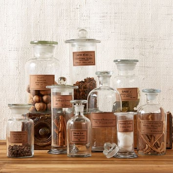 ASSORTED APOTHECARY JARS