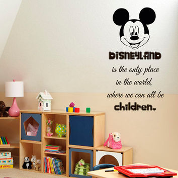 Disney Wall Decals Wall Quotes Children Vinyl Sticker Baby Kids Wall Decor Home Decor Vinyl Art Girl Boy Nursery Room Decor KG563