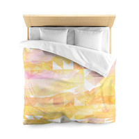 Watercolor Design  Microfiber Duvet Cover