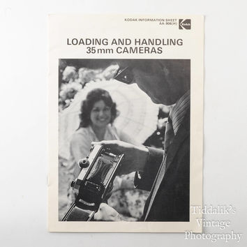 Kodak Loading and Handling 35mm Cameras Information Sheet AA-906(H) Booklet Reprint March 1980
