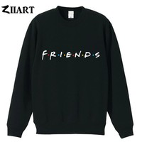 friends tv show logo letter alphabet couple clothes boys man male cotton autumn winter fleece Sweatshirt