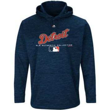 Detroit Tigers Majestic MLB Navy Ultra Streak Pullover Hoodie