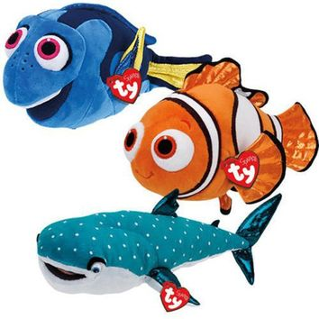 "Pyoopeo Ty Sparkle 6"" 15cm Finding Dory Nemo Dory Destiny Fish Plush Regular Stuffed Animal Collection Doll Toy with Heart Tag"