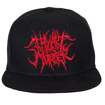 Thy Art Is Murder Grind Red Logo Snapback Hat Black