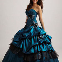 In Stock Applique Taffeta Wedding Dress Ball Gown Prom Quinceanera Deb Size6-16