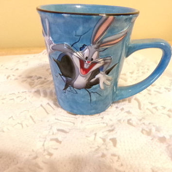 Bugs Bunny 3-D coffee mug, Vintage, Collectible from Looney Tunes, coffee cup, Bugs Bunny Collection, gift for her, gift for him, home decor