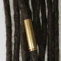XL Brass bullet casing dreadlock bead - dreadlock accessories - dread beads