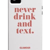Don't Drink and Text - Glamour iPhone 5 Cover Poster Print  at the Condé Nast Collection