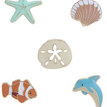 Life's a Beach Enamel Pin Set