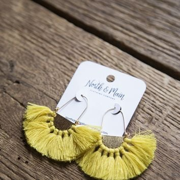 Zara Tassel Earring, Yellow