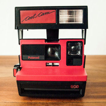 TESTED Polaroid Cool Cam 600, Red Polaroid Camera, Vintage Polaroid, Instant Camera, Working Polaroid, Color Polaroid, Cool Cam Polaroid