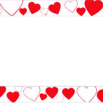 Hearts Plastic License Plate Frame