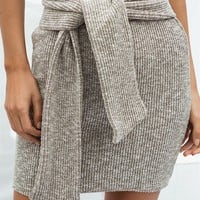 Tyla Ribbed Skirt - Bottoms by Sabo Skirt