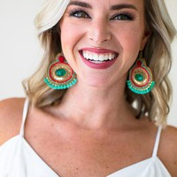 Read All About It Boho Statement Earrings