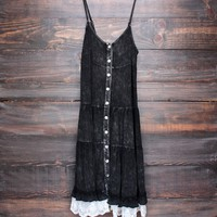 mimosas on the beach dress - vintage black
