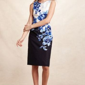 Maeve Vanda Pencil Dress in Blue Motif Size: