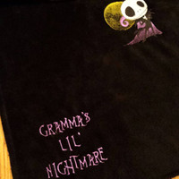 Jack Skellington Little NIGHTMARE BABY Blanket Minky EMBROiDERED PERSONALiZED Matching PILLOW avail Designs by Sugarbear