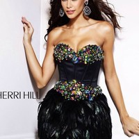 Gorgeous & Unique Sherri Hill Corset/Feather Dress Sherri Hill  4 by Vanessa Loves To Shop