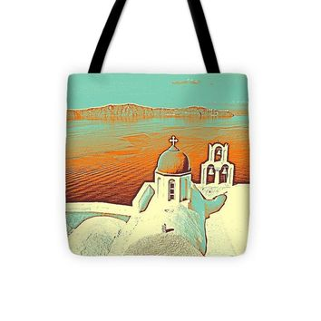 Santorini Greek Island Caldera, Greece 9 - Tote Bag