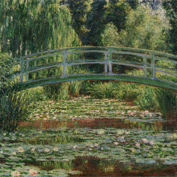 Claude Monet French The Japanese Footbridge And The Water Lily Pool Giverny