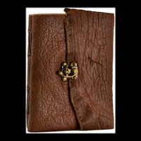 Buffalo Hunter Genuine Leather Blank Journal with Latch