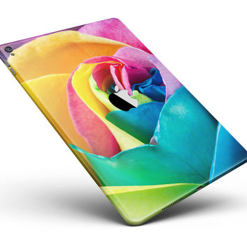"""Rainbow Dyed Rose V2 Full Body Skin for the iPad Pro (12.9"""" or 9.7"""" available)"""