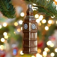 Glass Big Ben Ornament | Pottery Barn