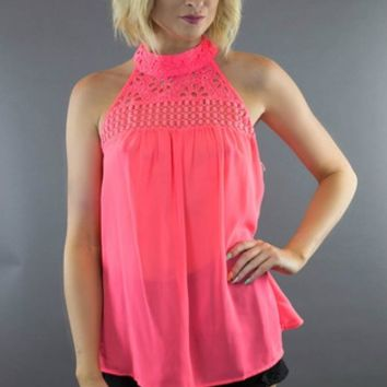 Double Zero | Neon Dream Halter Top