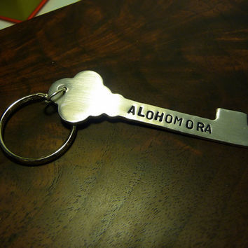 Harry Potter Alohomora A Hand Stamped Aluminum by bohemianstorm
