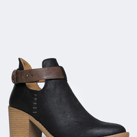 ANKLE STRAP WESTERN BOOTIE - ZOOSHOO