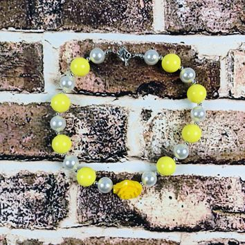 RTS Lemon Yellow Chunky Necklace