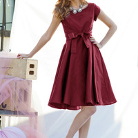 West End Dress Burgundy