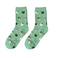 Feitong Winter Funny Socks For Women Men Casual Cotton Socks Lovely Animal Cat Socks Christmas Socks calcetines mujer