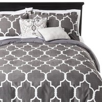 5 Piece Geometric Gate Duvet Cover Set