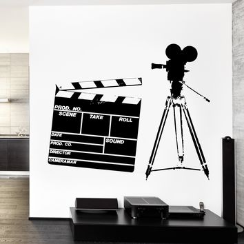 Wall Vinyl Cinema Hollywood Decor Movie Star Mural Unique Gift z3766