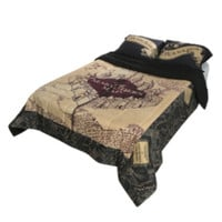 Harry Potter The Marauder's Map Full/Queen Comforter