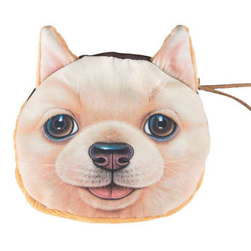 Retriever Dog Print Coin Purse