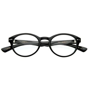 Optical RX Quality Oval Clear Lens Glasses 8361
